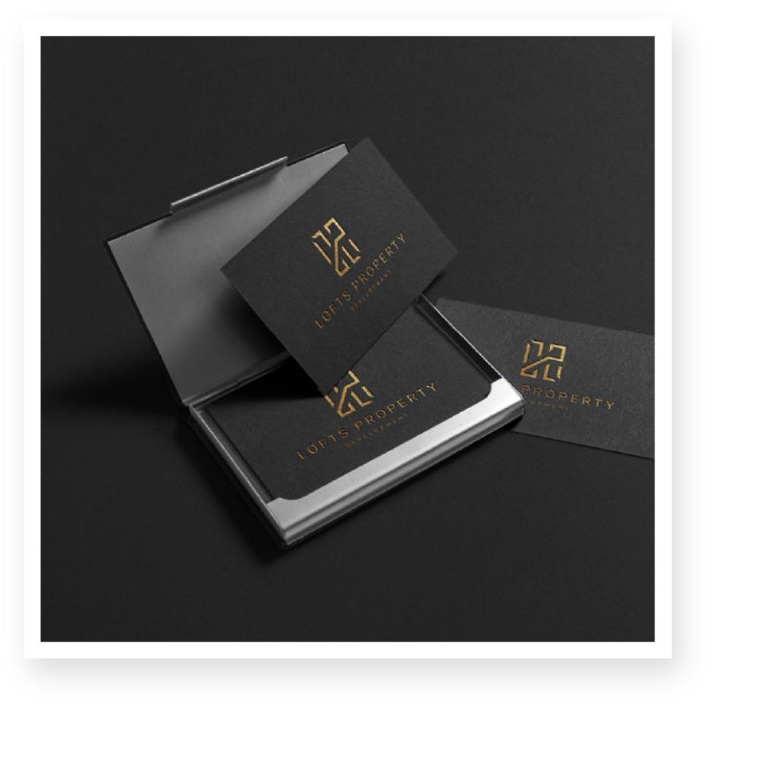 Lofts property development branding and business card design