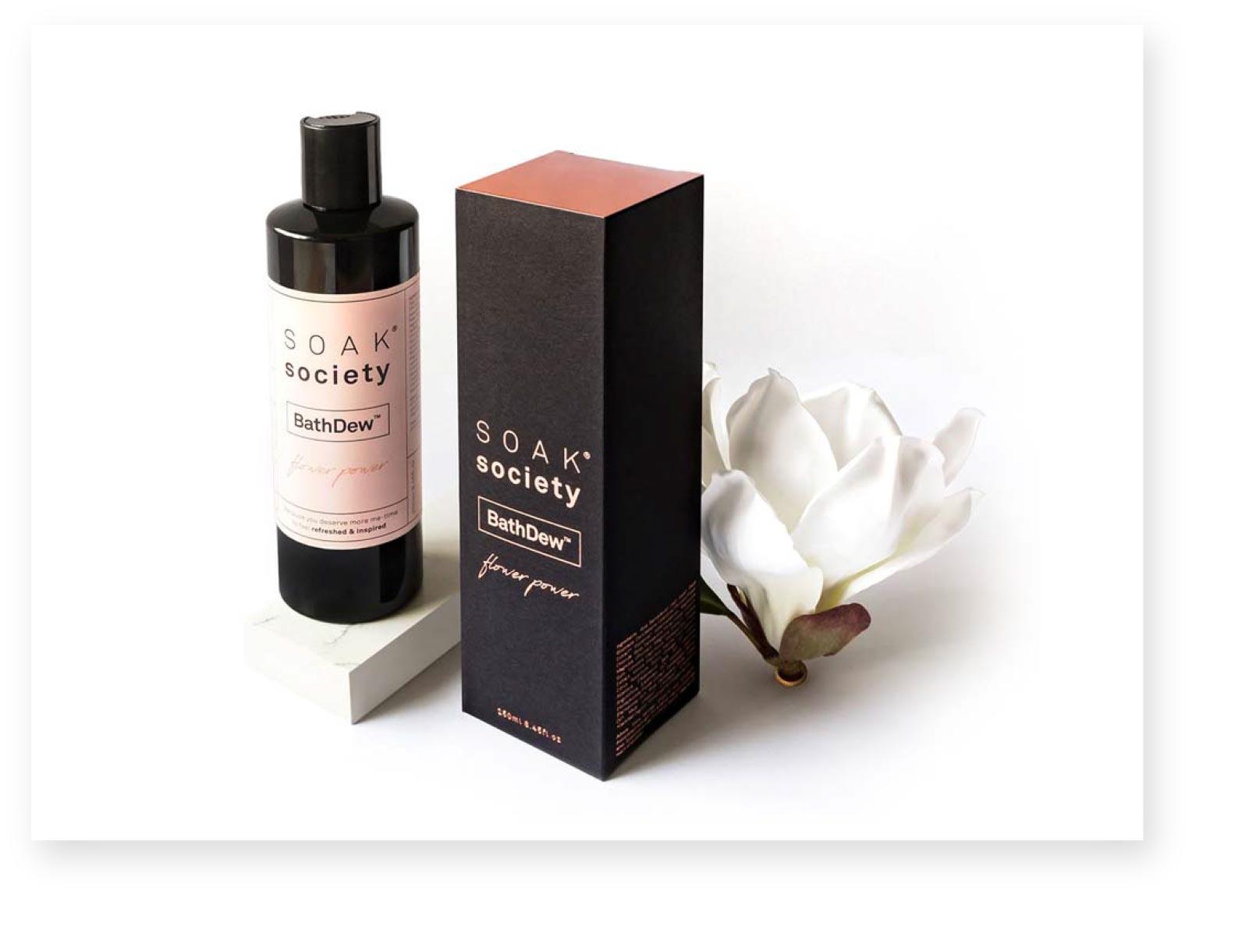Soak Society Luxury packaging designer